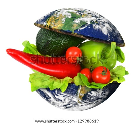 Healthy World Food. Elements of this image furnished by NASA. - stock photo