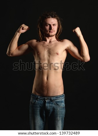 Healthy young man - stock photo