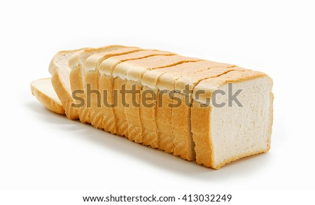 Healtly sliced bread isolated on white - stock photo