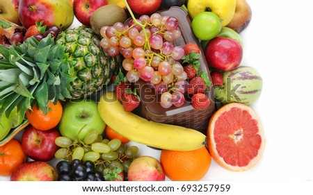 Healty Organic Mix of Fruits Composition