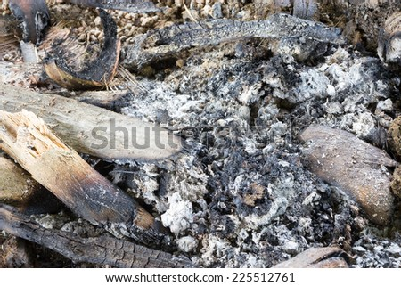 Heap coals of fire igniting - stock photo