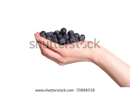 Heap of blueberries - stock photo