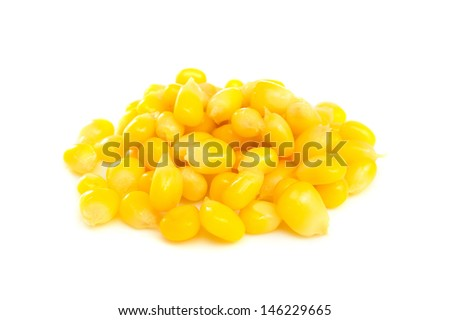 heap of boiled sweet corn - stock photo