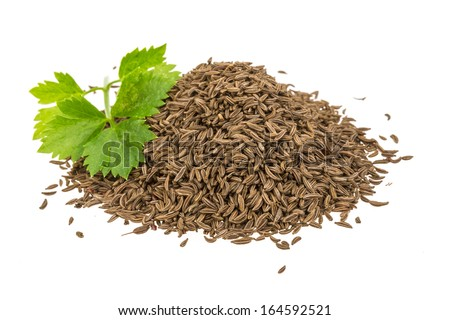 Heap of caraway isolated - stock photo