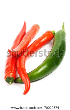 heap of chilly peppers - stock photo