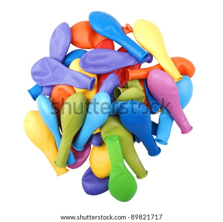 Heap of colorful balloons