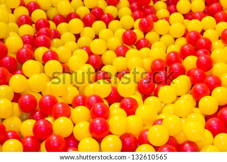 Heap of Colorful Balls Abstract Background. - stock photo