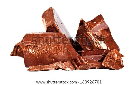 Heap of delicious black chocolate - stock photo