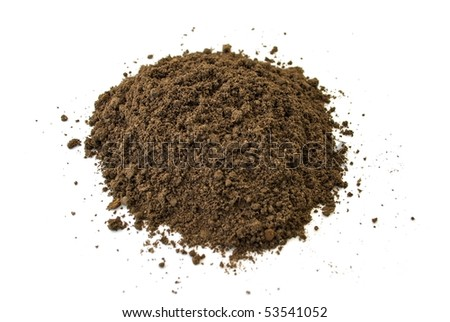 Heap of dirt isolated on white