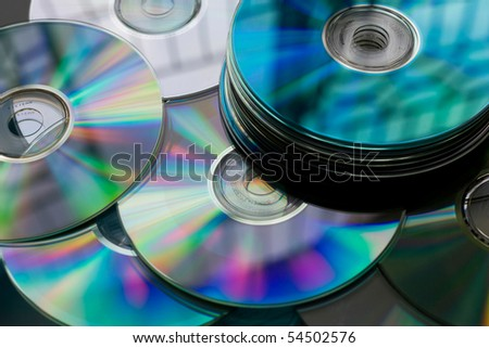 Heap of Disks - stock photo