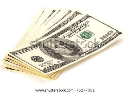 heap of 100 dollar banknotes - stock photo