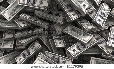 heap of dollars money background
