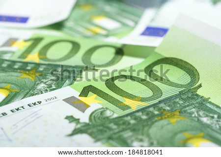 heap of euro close up