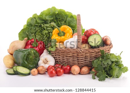heap of fresh raw vegetables - stock photo
