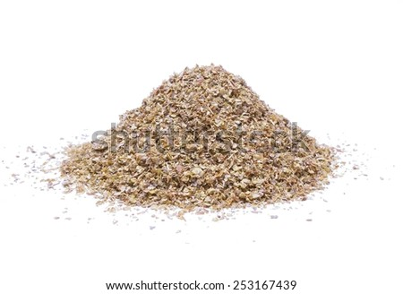 Heap of ground marjoram leaves - stock photo