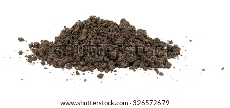 Heap of ground on isolated white background