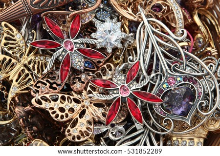 Heap of jewelry