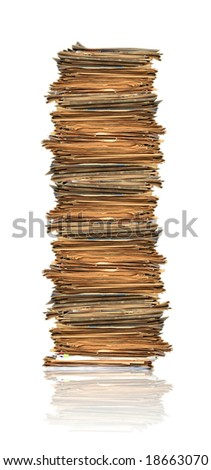 Heap of papers - stock photo