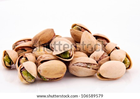 Heap of pistachio - stock photo