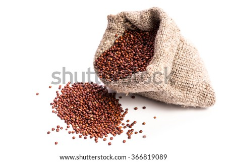 Heap of  quinoa,healthy vegan food concept - stock photo