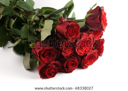 heap of red roses