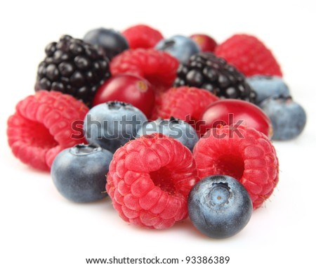 Heap of ripe berries - stock photo