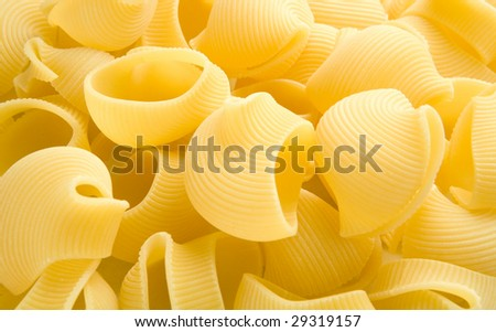 heap of row shell noodles - stock photo