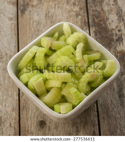 heap of sliced celery, - stock photo