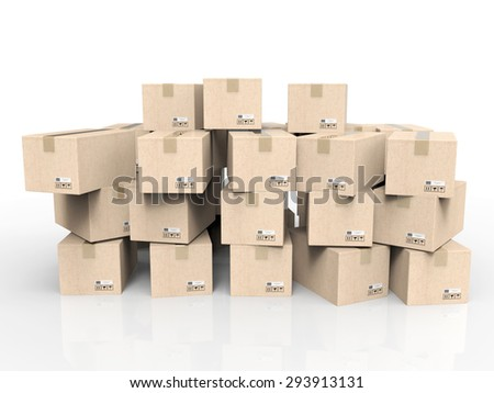 heap of stockpile - stock photo