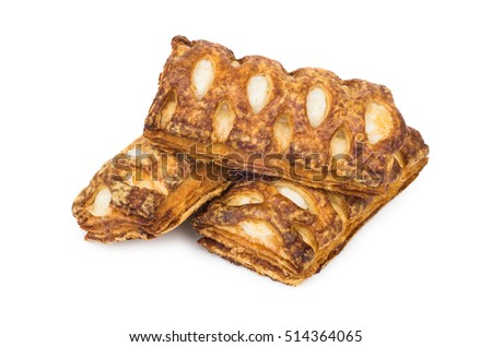 Heap of  stuffed cookies isolated on white background