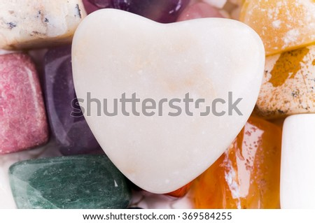 hear out of a natural stone - stock photo