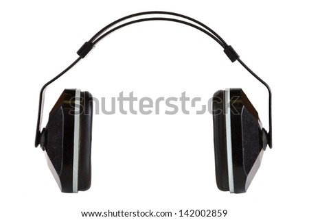 Hearing protection isolated on a white background. - stock photo