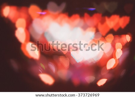 Heart abstract colorful defocused blurred bokeh background - stock photo