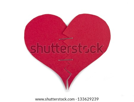 Heart ammended with staples