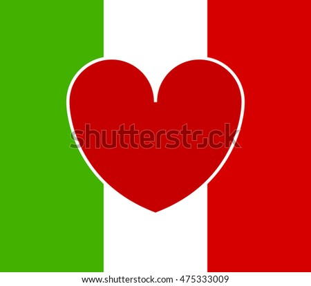 heart and flag of Italy