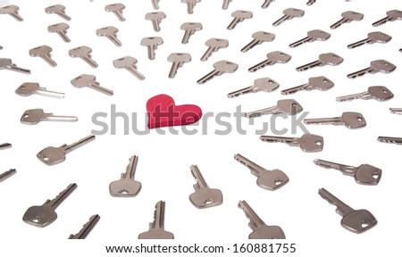Heart and keys - stock photo