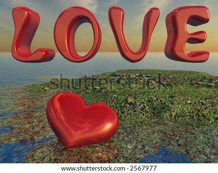 Heart and Love on Island