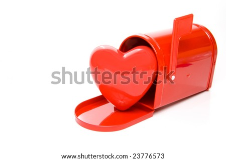 Heart and Mailbox - stock photo