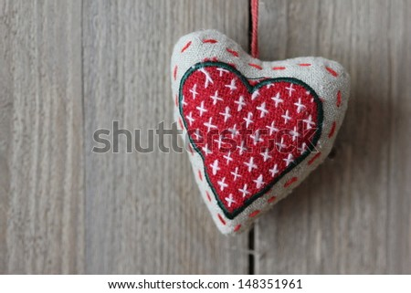 Heart as symbol of love - stock photo