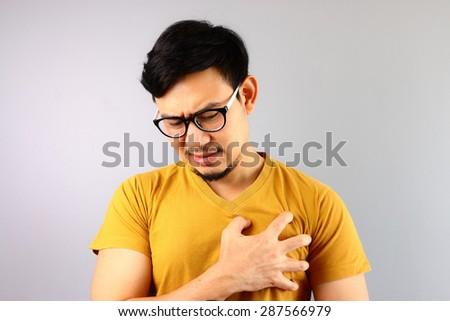 Heart attack or broken heart. - stock photo