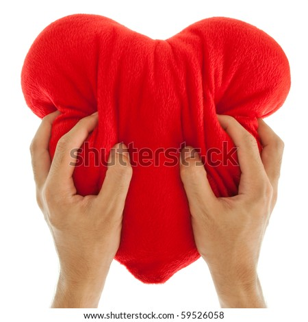 Heart Attack with both Hands - stock photo