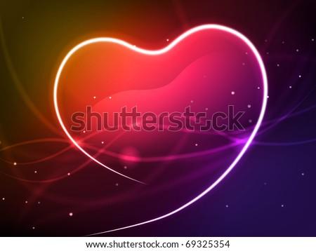 Heart background - stock photo