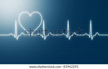 heart beat - stock photo