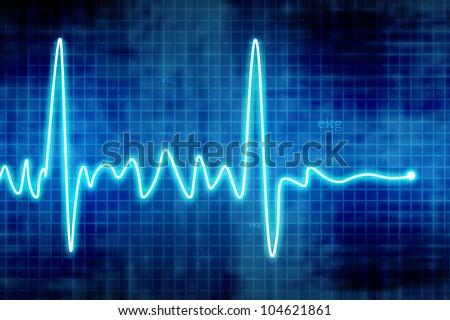 heart beats - stock photo
