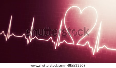 heart beats cardiogram. Medical Abstract background. Health care concept