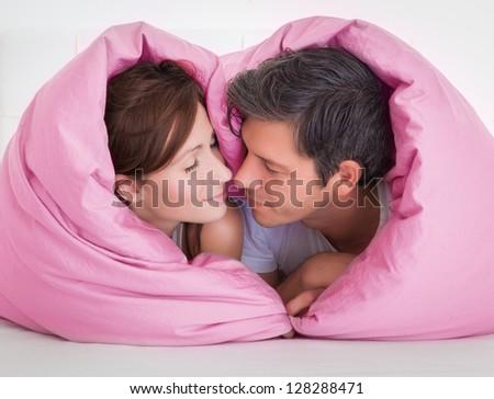 heart bed - stock photo