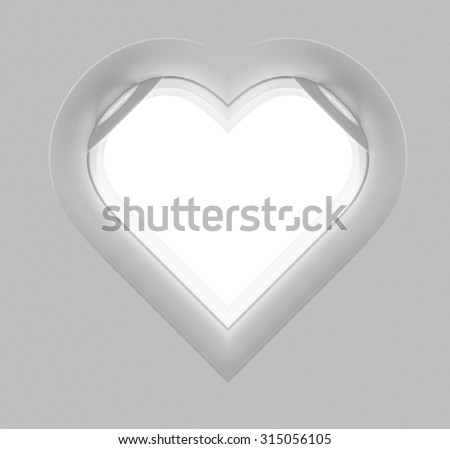 Heart blank window plane - stock photo