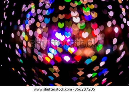 heart bokeh abstract Christmas light background - stock photo