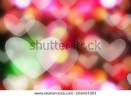 Heart bokeh.  holiday abstract background - stock photo