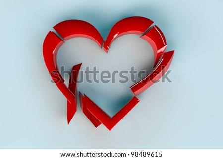 Heart Break - stock photo